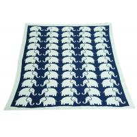 Elephant Pattern Knitted Knitted Wool Blanket For Home Decoration Manufactures