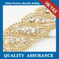Gold plated rhinestone chaining,high quality rhinestone chaining,gold plated brass chains Manufactures