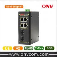 Industrial Ethernet 4 port gagabit PoE Switch din rail mounted IEEE802.3at Manufactures