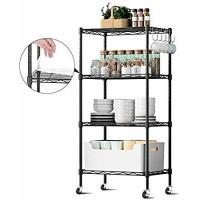 Durable  Commercial Wire Shelving Unit Restaurant Organizers 5 Tier Metal Storage Rack Manufactures
