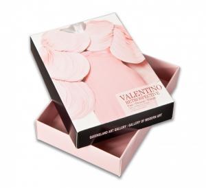 China Plain Pink Kraft Cardboard Gift Boxes , Glossy Lamination / Offset Printing on sale