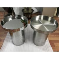 mirror silver stainless steel table base modern metal round coffee table Manufactures