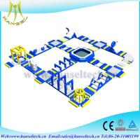 China Hansel attractive infltable pontoon swimming pool for water party on sale