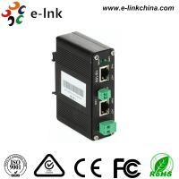 10 / 100M Din Rail Mount UTP Video Extender , IEEE802.3at 30w Network Video Transmitter Manufactures