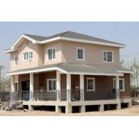 Residential Light Steel Structure Villa Large Span 3 Rooms PVC Floor Ceramic Manufactures
