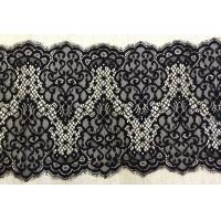 Nylon Scalloped Black Eyelash Lace Trimming For Garment Decorative Manufactures