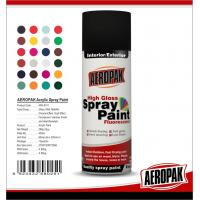 China Fast Dry 400ml Aerosol Spray Paints / High Coverage Black Spray Paint For Cars on sale