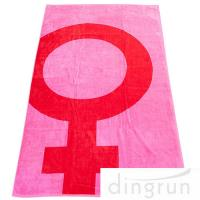 China OEM Girl Design 100 Cotton Beach Towel Printing 70*140cm Extra Absorbent on sale