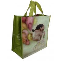 PP Woven Reusable Carrier Bags Both Sides Shining Coats , eco friendly Manufactures