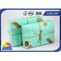 Custom Logo Printed Paper Boxes with Lids , Rectangle Hard Cover Decorative Box for Wedding Gift Manufactures