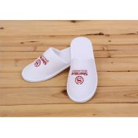 Logo Printed White Color Disposable Hotel Slippers For Womens / Mens / Kids Manufactures
