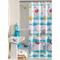 China Mildew resistant shower curtain with matching window curtain shower curtain on sale