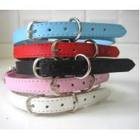 Quality Red Flash Safty Nylon Dog Collar with special pattern for sale