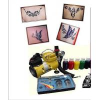 220-240v, 50Hz Body Art Glitter Temporary Tattoo Kit with Mini Air Compressor Manufactures