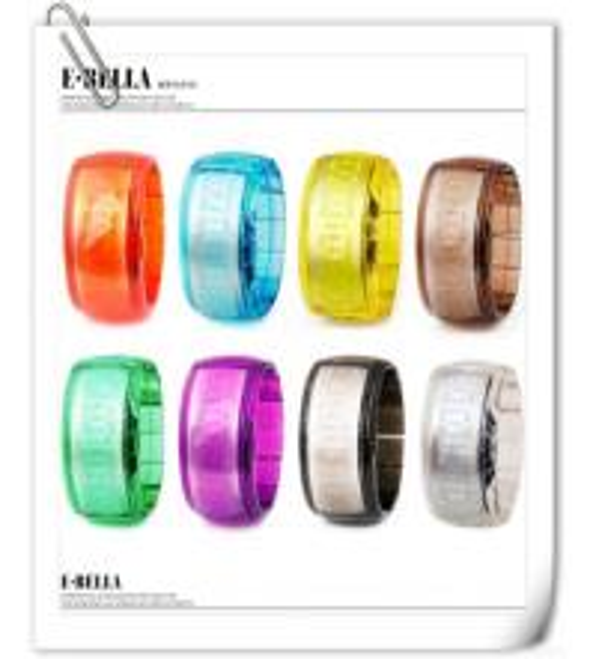 Quality Jelly Digital Watch  Led Watch Unisex Odm Bangle Women's Watch for sale