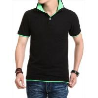 China wholesale polo shirt design with combination China two-tone polo shirts on sale