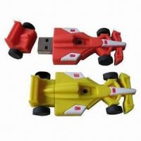 Race Car-shaped USB2.0 Flash Drives, 1 to 8GB Capacity, OEM Orders Welcomed Manufactures