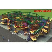 Safe Outdoor Adventure Playground For Park / School /  Mall Manufactures