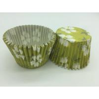 Green White Flower Greaseproof Cupcake Liners Disposable Mini Baking Tools Cake Decoration Manufactures