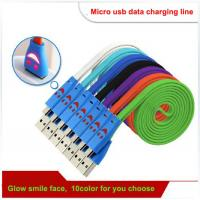Micro usb cable,  Smiling face usb data cable, micro usb data charging cable Manufactures
