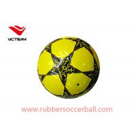 Colorful World Custom Yellow Soccer Ball For  match children play games Manufactures