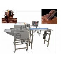 Small Chocolate Coating Enrobing Machine Food Grade Safety Simple Operation Manufactures
