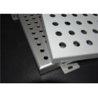 Wall / Ceiling Perforated Aluminum Panels Hot Dipped Galvanized For Outside Manufactures