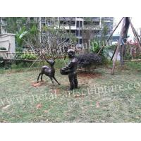 Cute Deer Garden Ornaments Statues Metal Animal Sculptures Natural Art Design Manufactures