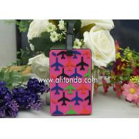 Custom plane luggage tag for airline company promotional luggage tag travel agent souvenir gifts luggage tag Manufactures