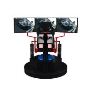 3 Dof Motion Simulator Car Racing Game Machine 9d Vr Electric 3 Screens Manufactures