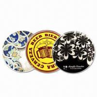 Acrylic 10cm Circular Coasters, 3mm Thick with CMYK Logo and Visual Manufactures