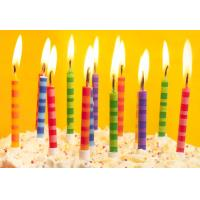 Scheme Color Streak Striped Birthday Candles , Beautiful Custom Birthday Candles Manufactures
