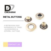 Anti-Brass Snap Buttons Flat Ring 4 Parts 17MM Lead Free Eco-Friendly Manufactures