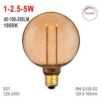 Buy cheap G125 Bulb, Deco Bulb, E27 LED Bulb, Fashionable Glass Bulb, Energy Saving Lamp from wholesalers