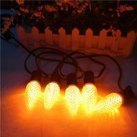 Orange Christmas light LED replacement Bulb C9 dimmable Xmas lamp E17 120V for USA Manufactures