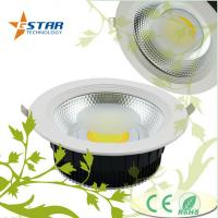 Dimmable 30 W Led Recessed Ceiling Downlights COB 63mm LED Chip IC Drive Manufactures