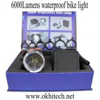 LED bicycle light accessories CREE 6000Lumens waterproof Manufactures