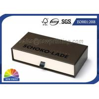 Logo Printed Drawer Rigid Paper Gift Box Belt Cardboard Slide Case SGS Approval Manufactures