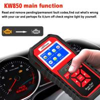 China KW850 Automotriz Code Reader , Auto Car Diagnostic Tool OBD2 Scanner 1 Years Warranty on sale