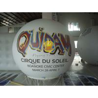 White Inflatable Advertising helium balloon with UV protected printing for Trade show Manufactures