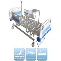 China Three Functions Manual Hospital Bed With Dinning Panel 3 Kinds Of Optional Parts Medical Bed on sale
