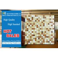 Gold Mosaic and yellow white glass mosaic square tiles for kitchen backsplash Manufactures