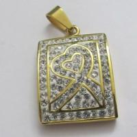 Cheap Costume Jewellery 316 Stainless Steel Pendants with Full Crystals Manufactures