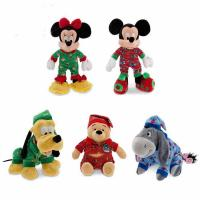 Cute Sleepwear Disney Stuffed Toys Christmas Holiday Promotion Red Blue Manufactures