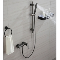 China Leakproof OEM Gray Hot Cold Copper Bathtub Faucet on sale