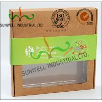 Rigid Kraft Paper Cardboard Food Packaging Boxes With Art Paper Wraped Finished Manufactures