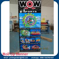 Deluxe Wide Base Single-screen Roll Up Banner Stands Manufactures