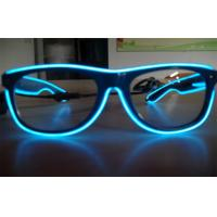 Electroluminescent Full Frame El Wire Glasses / Sunglasses With Cool Lighting Blue Color Manufactures