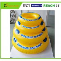 Bright Colors Inflatable Swim Ring High Safety For Pool Entertainment Manufactures