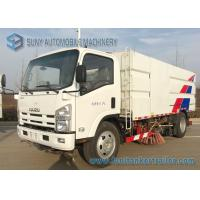 China 6 Wheeler Isuzu Road Sweeper Truck 6000KG Street Cleaning Vehicles 4 X 2 Truck on sale